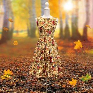LINDY BOP Floral Sz XS US Sleeveless A Line Dress